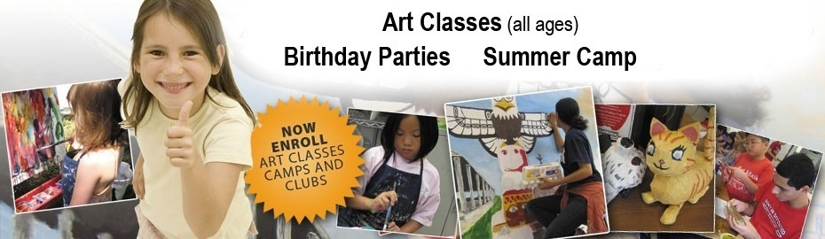 art classes, birthday parties, summer camps